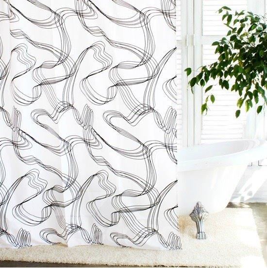 High Quality Fashion Modern Unique Design Shower Curtain