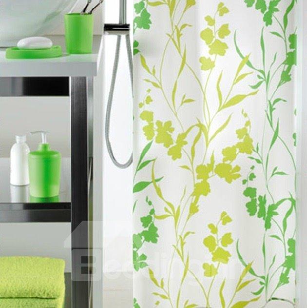 High Quality Elegant Green Vine Design Shower Curtain