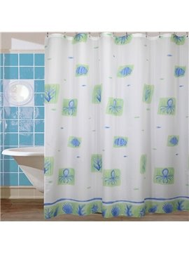 New Arrival Cute  Octopus Printing Shower Curtain