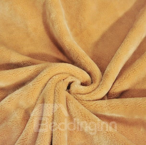 Quality Fancy Solid Color Flannel Blanket