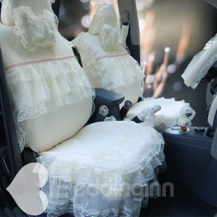 New Fashion Wedding Lace Princess Car Seat Cover