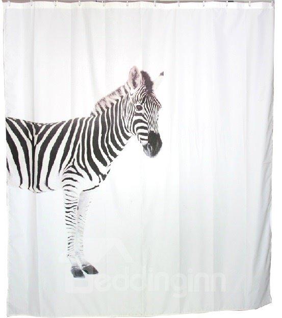 New Style Unique Amazing Zebra Printing Shower Curtain