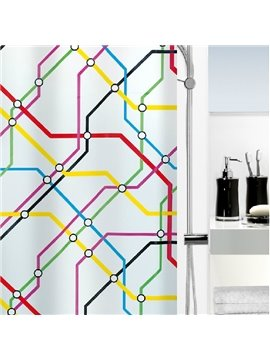 New Style Unique Subway LInes Printing Shower Curtain