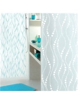 New Style Pretty And Elegant Blue Stripe Shower Curtain