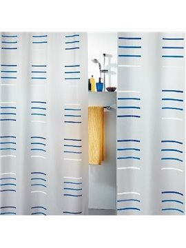 New Arrival Blue And White Stripe Design Shower Curtain