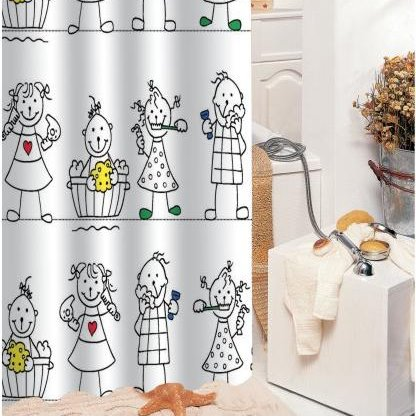 New Arrival Fabulous Cartoon Children Printing Shower Curtain
