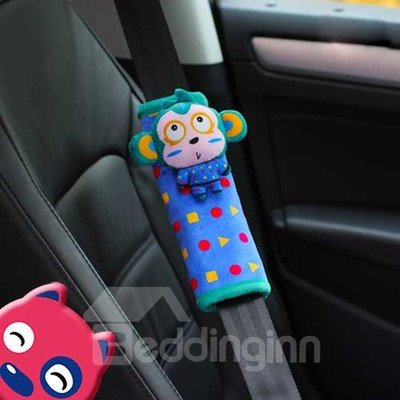 Creative Monkey Lulu Cartoon 3D Cotton Seat Belt Cover