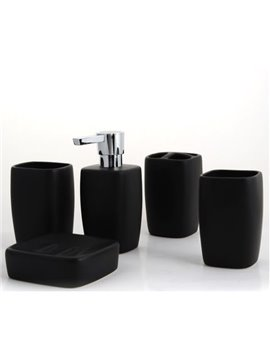 High Quality Modern Fashion  Pure Black Bathroom Accessory