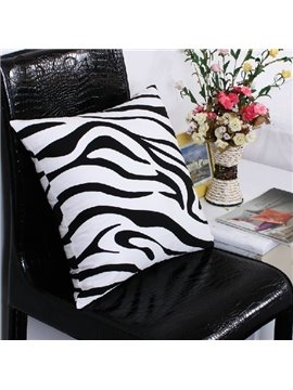 Fashion Adorable Zebra Print Super Soft Satin Throw Pillow