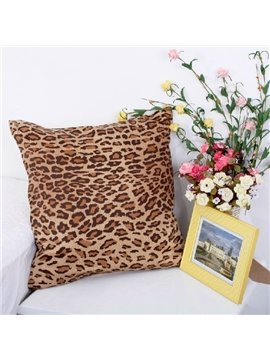 Fashion Adorable Leopard Print Comfortable Satin Throw Pillow