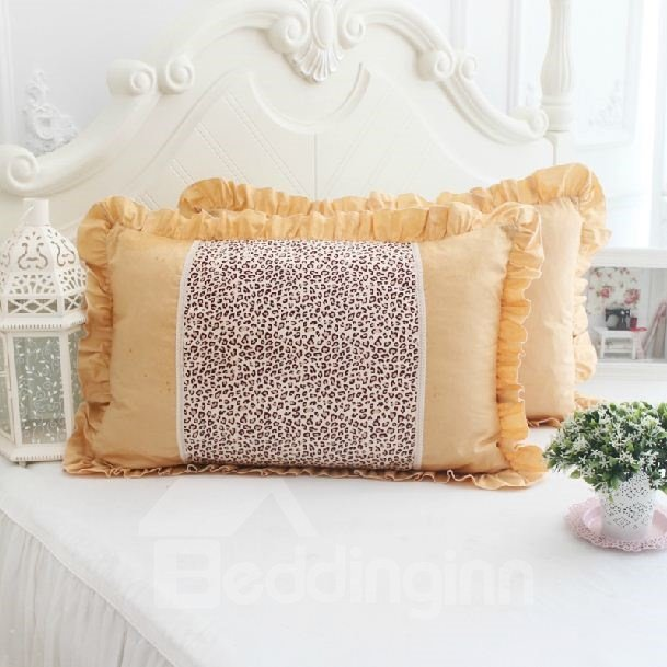Quality Enchanting Blue Leopard Lacey Style Pillowcase