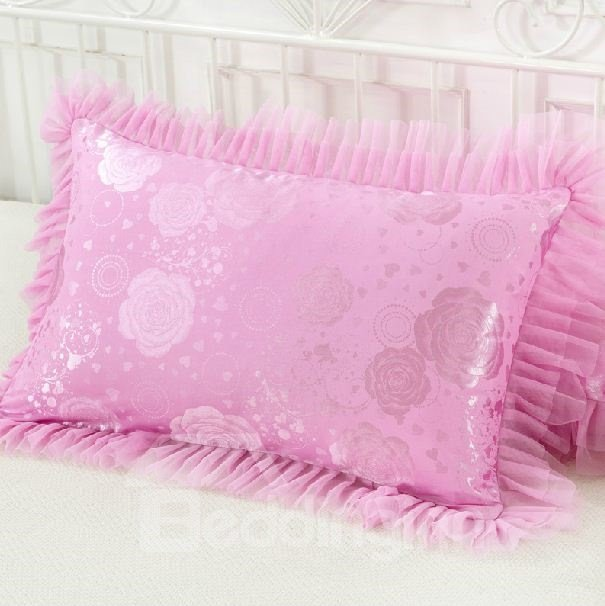 Gorgeous Cinderella Style Jacquard Lacey Super Soft Pillowcases