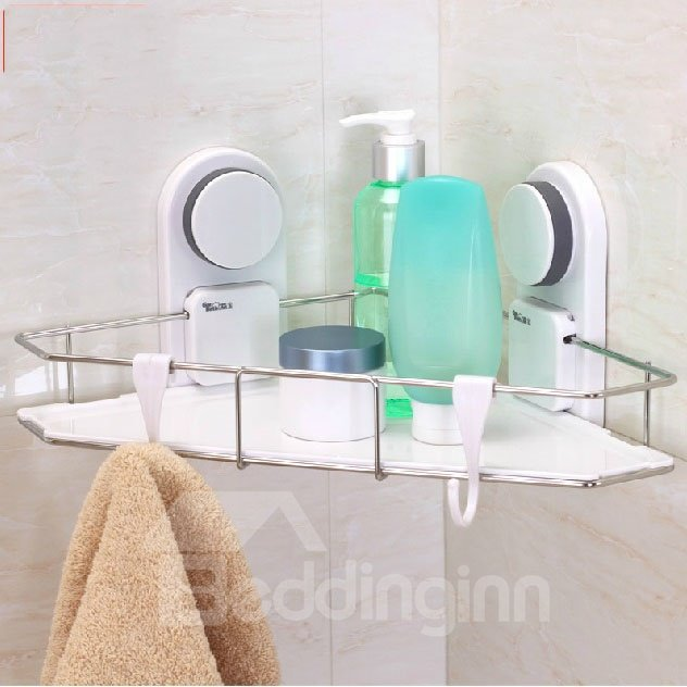 Perfect RUST RESISTANT STAINLESS STEEL 3 TIER BATHROOM CORNER WALL SHELF CADDY