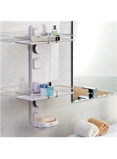 New Arrival Unique Stainless Steel Triple Layers  Wall Mounted Bathroom Shelf