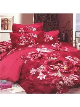 Wonderful Adorable Blooming Floral Print Bed in a Bag Set
