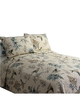 Hot Sell Beautiful Birds on Branch Print Bed in a Bag Set