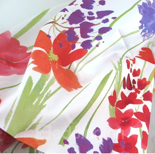 High Class Pretty Creative Floral Watercolor Printing Shower Curtain