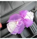 Rural Style Floral With Light Lace Design Hand Brake Cover