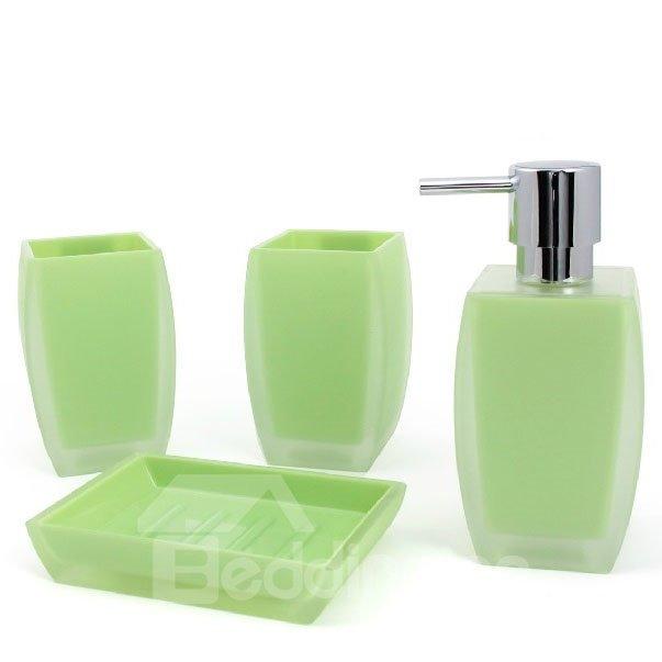 High Class Fashion Elegant Pure Color Four-piece Bathroom Accessory