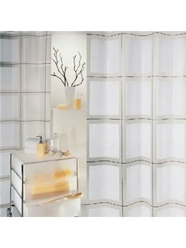High Class Modern Fashion White Squares Design Shower Curtain