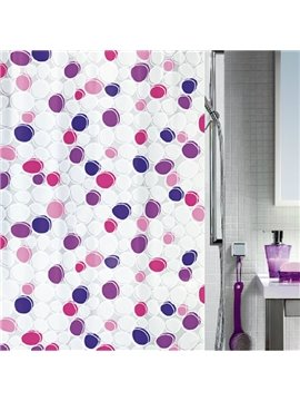High Quality Dots Printing Concise Design Shower Curtain