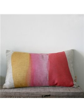 Amazing Gradient Watercolor Linen Bed Pillow