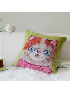 Wonderful Cartoon Cute Cat Design Throw Pillow