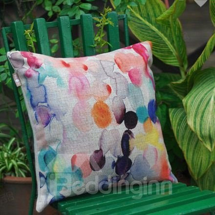 Amazing Fancy Geometric Figure Watercolor Throw Pillow