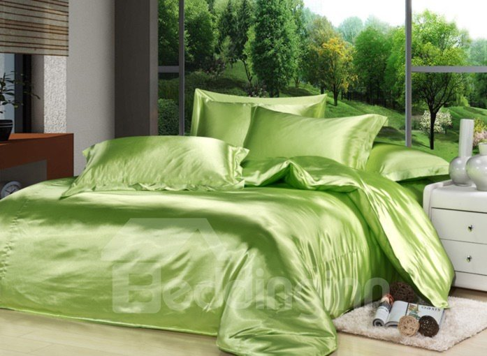 Comfortable Fresh Green 4-Piece Duvet Cover Sets