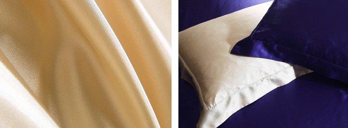 Soft Camel and Drak Purple 4-Piece Cellosilk Duvet Cover Sets
