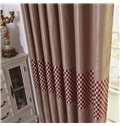 Super Elegant Solid Color with Checker Grommet Top Custom Curtain