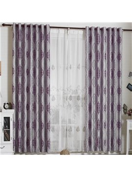 Luxury Elegant Super Soft with Snowflake Grommet Top Custom Curtain