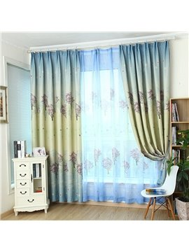 Fabulous Trees Printing Two Panels Grommet Top Custom Curtain