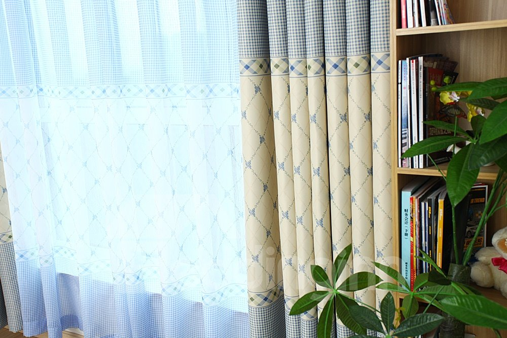 Pretty Elegant Concise Pattern Custom Sheer Curtain