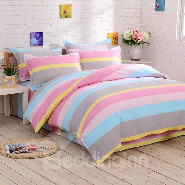 Amazing Contracted Design Rainbow-like Stripe Pattern Sheet