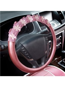 New Style Fashion  Semi-Circle Lace Flower Car Steering Wheel Cover