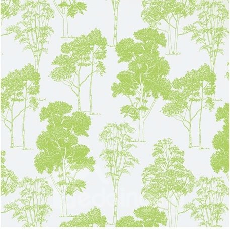 High Quality Fabulous Pine Tree Printing Shower Curtain