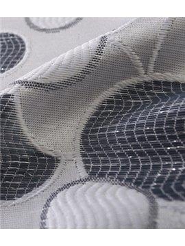 Classic Four Dark Stripe and Bubbles Grommet Top Custom Curtain