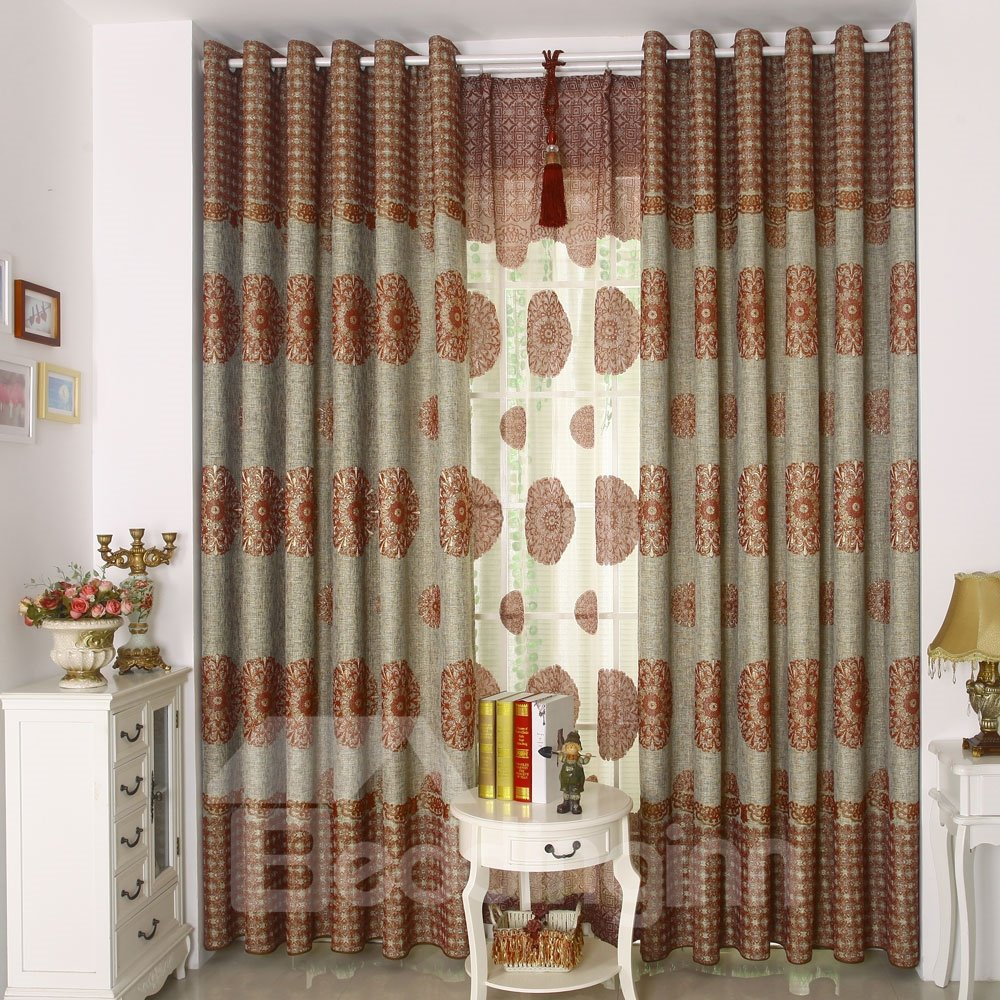 High Class Contemporary Design Grommet Top Custom Made Curtain 10981674