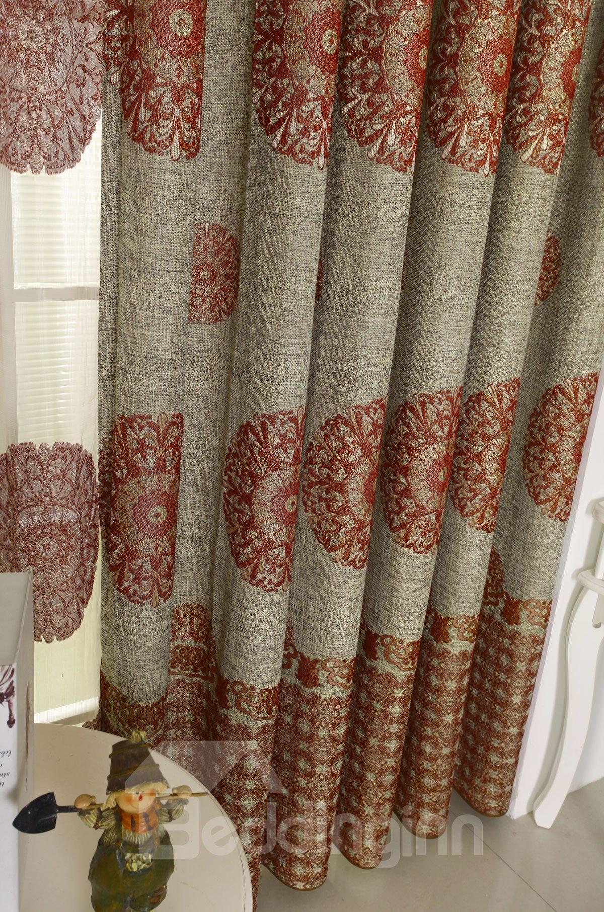 High Class Contemporary Design Grommet Top Custom Made Curtain