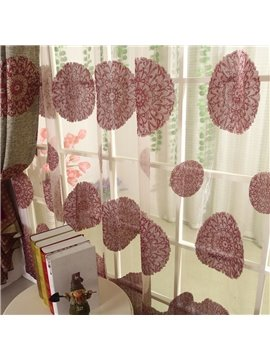 High Class Luxurious Elegant Silky Design Custom Sheer Curtain