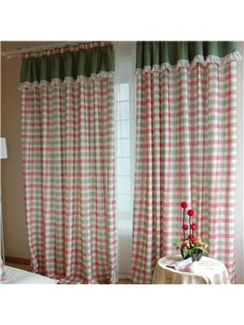 Top Class Super Scottish Plaid Design With Shade Head Double Pinch Pleat  Curtain