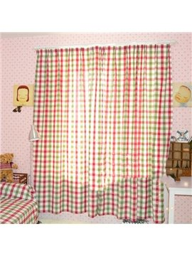 Top Class Super Scottish Plaid Design Without Shade Head Double Pinch Pleat  Curtain