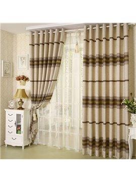 Top Class Super Elegant Stripe Design Grommet Top Two-piece Custom Curtain