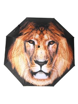 High Quality Beautiful 3D Three-Dimensional Lion Pattern Sun Protection Umbrella