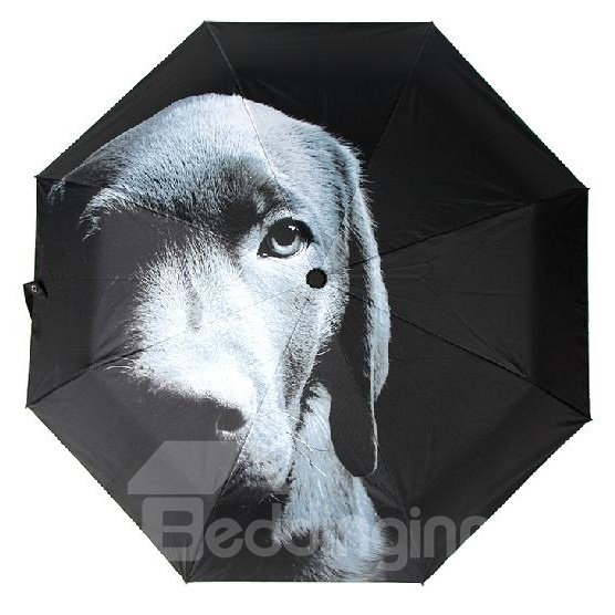 New Style Amazing 3D Three-Dimensional Dog Pattern Sun Protection Umbrella