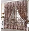 Dark Coffee Phoenix Pattern Grommet Top Custom Curtain