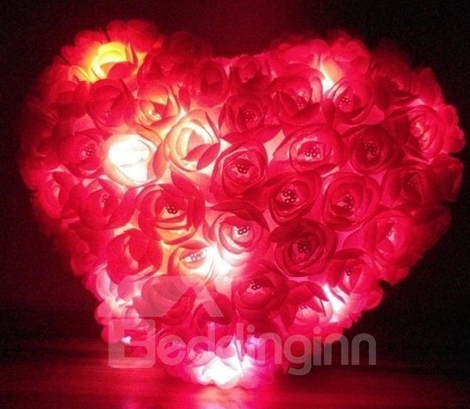 New Style Romantic Chemical Fiber Cloth Colorful Luminous Pillow