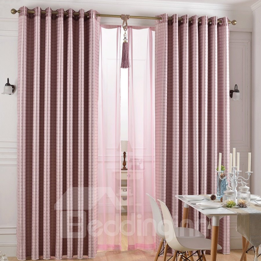New Style Pink Mauve Short Plush Grommet Top Custom Curtain 10982251