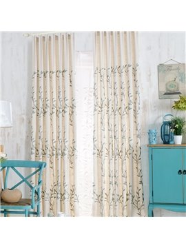 Top Class Super Elegant Vines Design  Double Pinch Pleat  Curtain